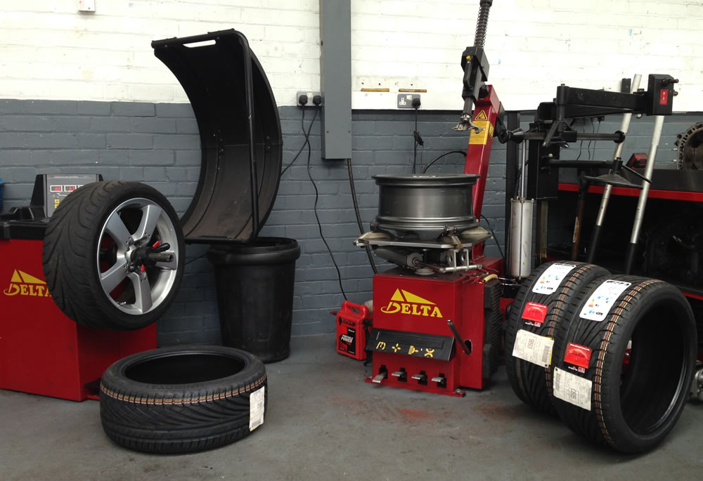 Our in-house Delta Tyre Fitting and Wheel Balancing machines