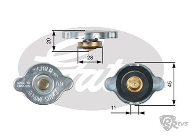 Gates 0.9 bar radiator cap