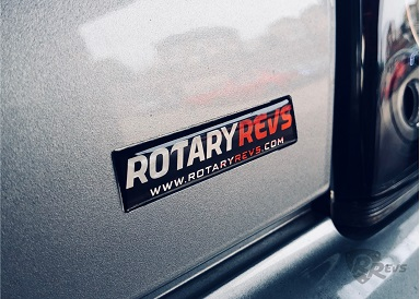 Rotary Revs Gel Sticker