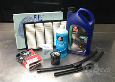 Rotary Revs '2nd Year' Service Kit items