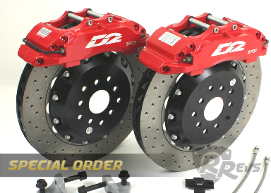 D2 6 Pot 330mm Big Brake kit items